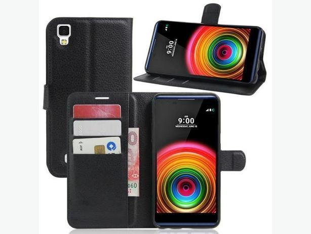 Wallet Folio Flip Stand Leather Case for LG X Power