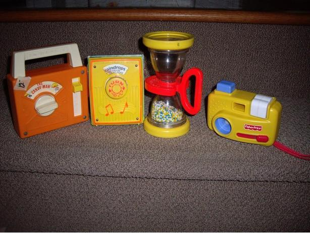 FISHER PRICE CAMERA/RADIOS/HOURGLASS