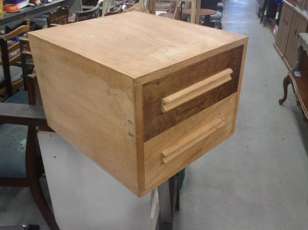 Wood 2 Drawer