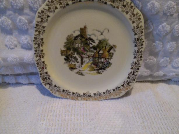 Three Staffordshire Plates