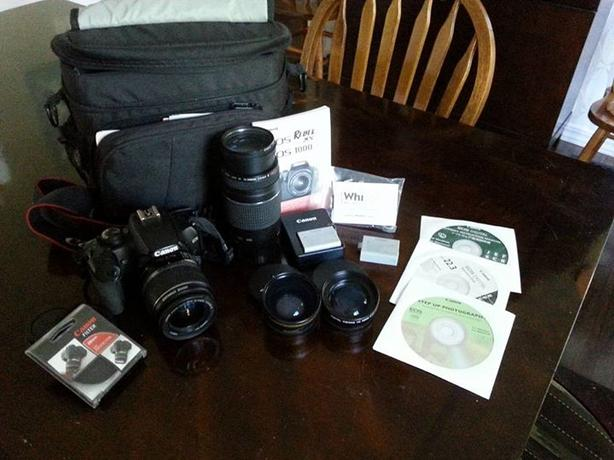Canon Rebel XS with Accessories