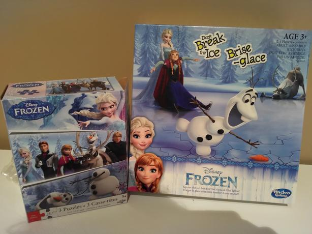 Frozen Board Game and Puzzles