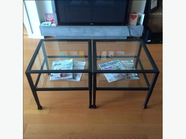 Pottery Barn Iron Glass Coffee End Tables 3 Central Nanaimo Nanaimo