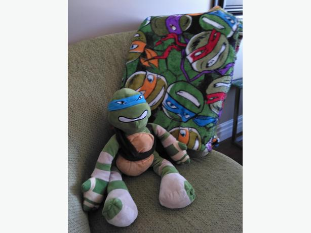 Ninja Turtle Plush and Ninja Turtle Blankey