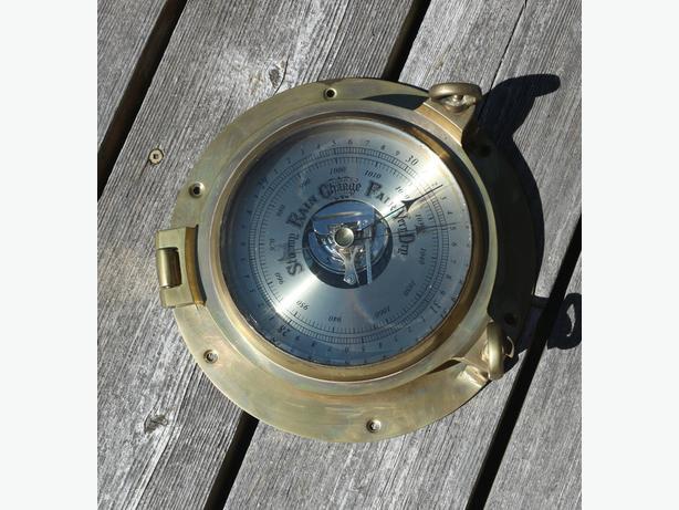 Vintage Brass Barometer