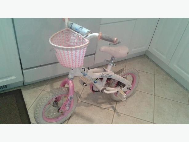 "Girls Disney 12"" tire bike"