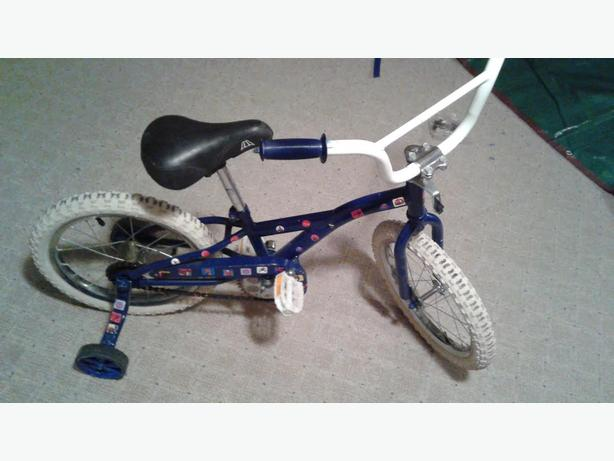 "16"" Blue kids bike"