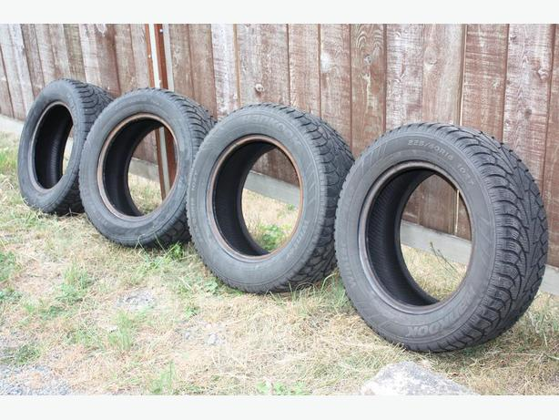 4, 225/60R16 inch  Hankook Winter tires used two winters