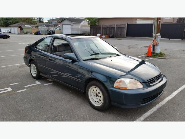 1997 honda civic si coupe green auto vancouver city vancouver