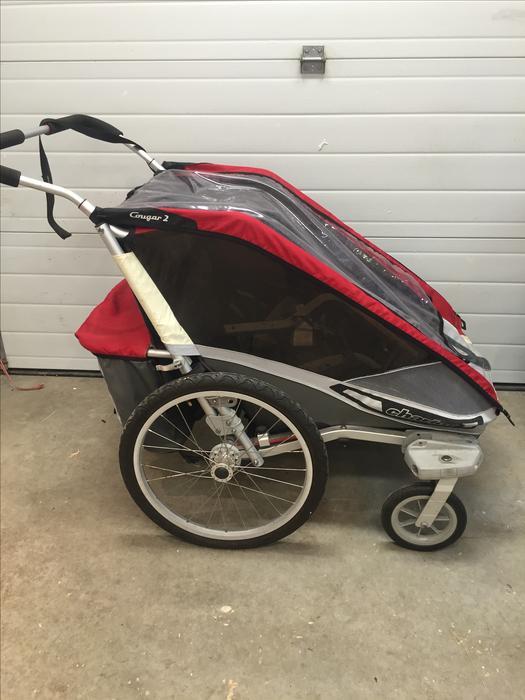 chariot cougar 2 double stroller central saanich victoria. Black Bedroom Furniture Sets. Home Design Ideas