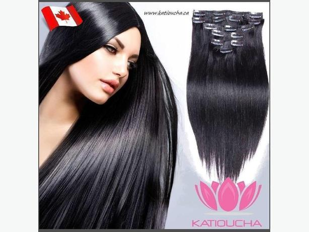 CLIP IN hair extensions,VIRGIN REMY HUMAN HAIR 7A,7 pcs,STRAIGHT
