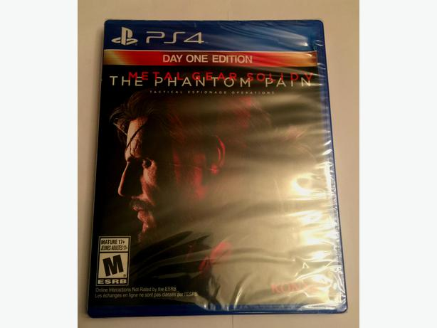 PS4 Metal Gear Solid V Phantom Pain Day One Edition - Brand New in Shrink Wrap