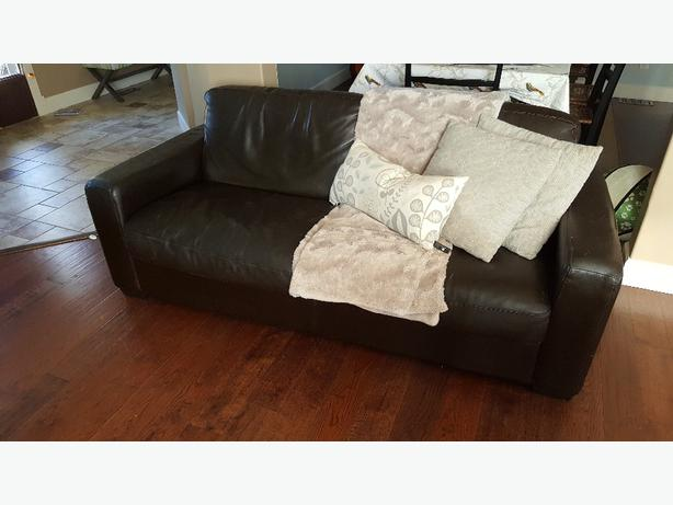 modern chocolate brown lether sofa