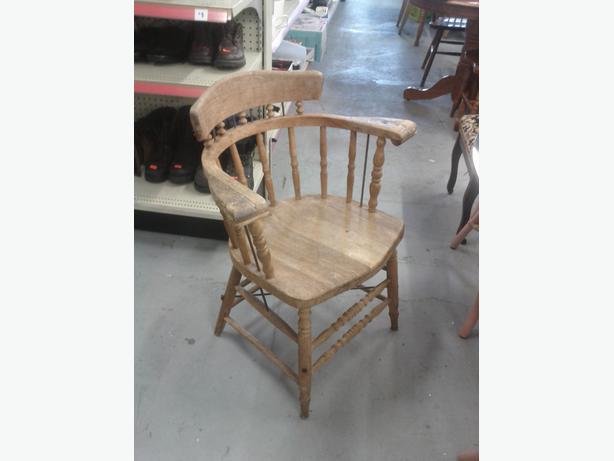 Vintage Wood Arm Chair