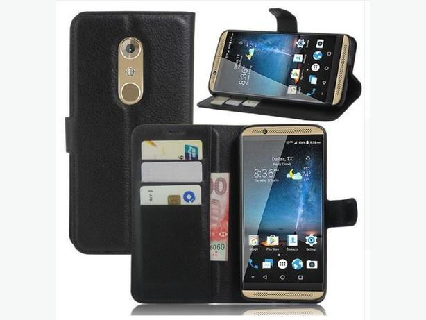 Wallet Flip Leather Folio Stand Case for ZTE Axon 7