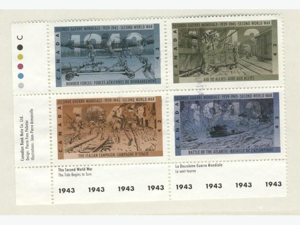 1993 Canadian Stamps WWII Commemoration