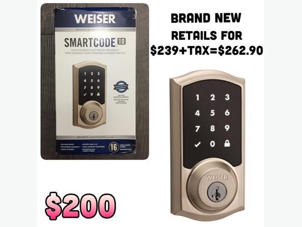 BRAND NEW Weiser electronic locks