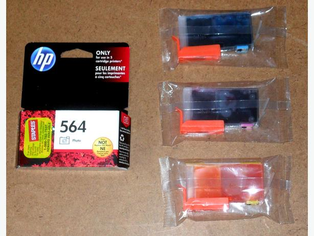 4 New, Still Sealed HP 564 Color Ink Cartridges