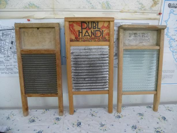 3 antique wash boards