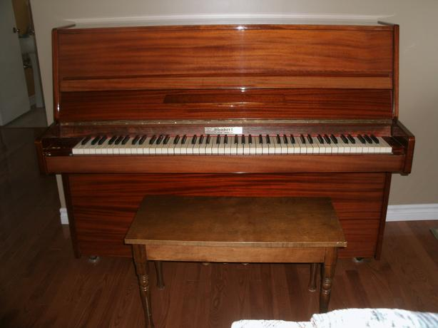 Shubert upright Piano & bench