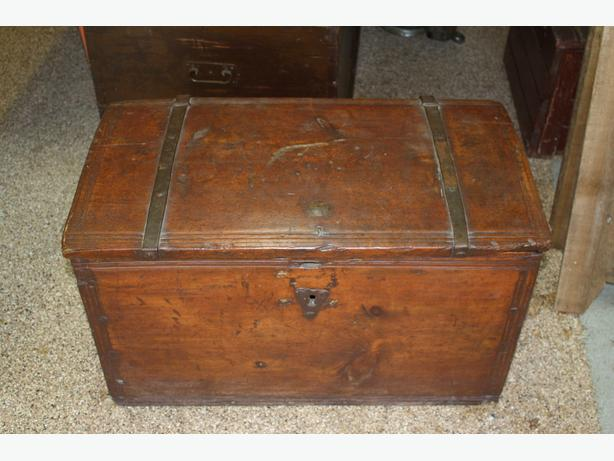 Antique Oak  Sailors Trunk