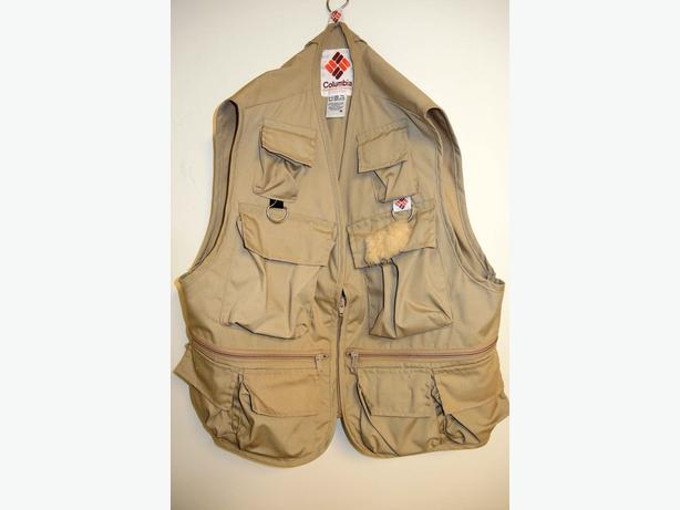 Fishing vests and waders