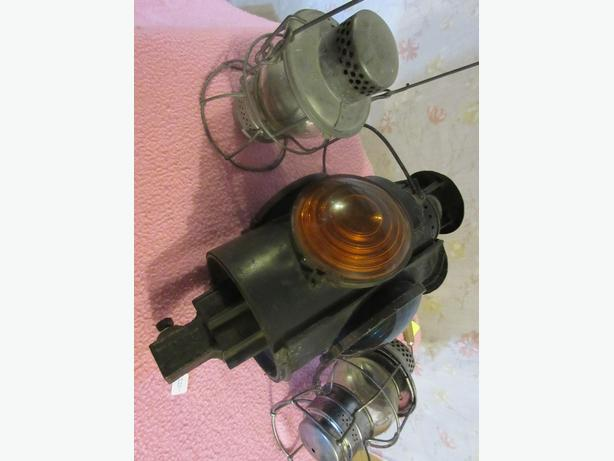 CPR BRAKEMAM AND YARD LAMPS FROM ESTATE