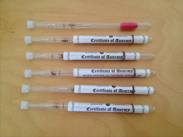 Vintage 1964 Micro-Pipettes by Scientific Products