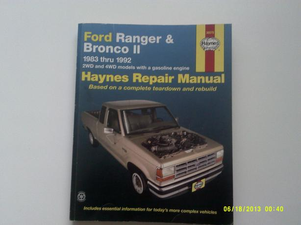 Haynes repair manual Ford Ranger 1983-1992