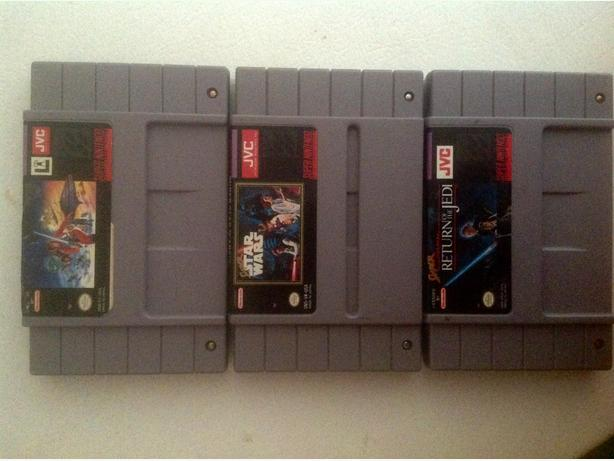3 Super Nintendo Starwars games