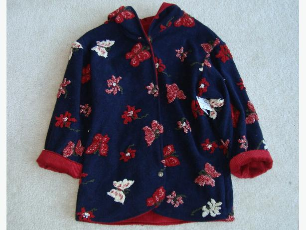 Reversible Flower & Butterfly Print Coat with Hood