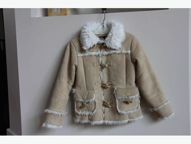 Gap Girl's Suede Faux Fur Coat