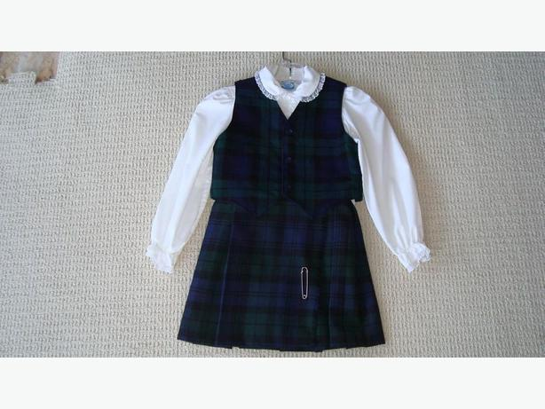 Bonda 100% Wool Kilt, Vest & Blouse
