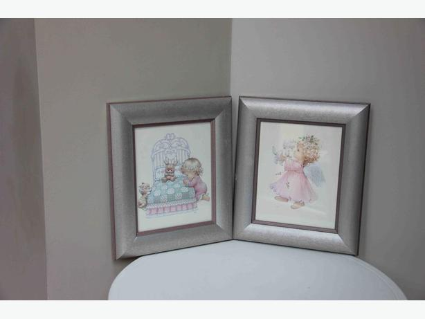 Girl's Wall Pictures - Set of 2