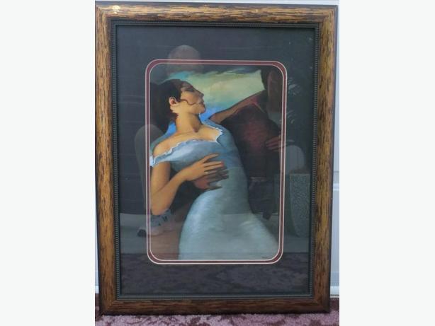 Art Print....Woman in blue dress