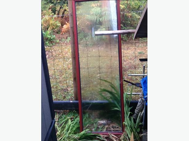 Glass door inset, double pane