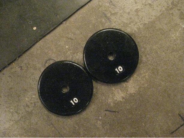 2 -10 LB METAL WEIGHTS
