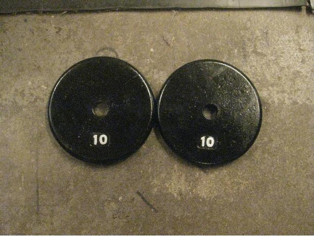 2 -10 LB METAL WEIGHTS