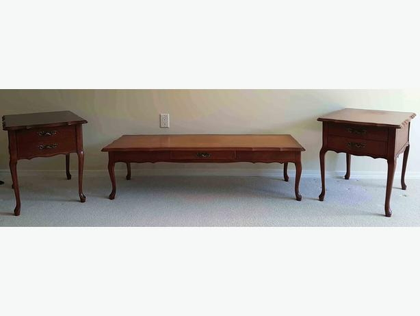 Matching end tables coffee table saanich victoria mobile Matching coffee table and end tables