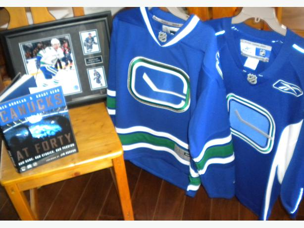 Canucks Jerseys, Photo, and Book