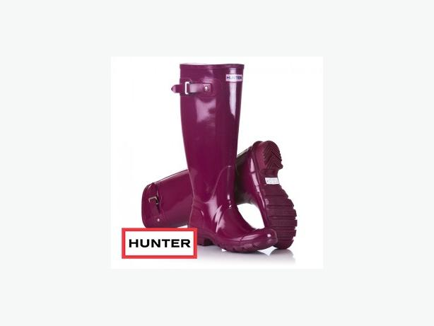 TALL GLOSSY HUNTER BOOTS - WOMEN SIZE 10 - EXCELLENT CONDITION