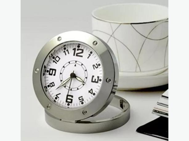 New fancy table top clock with hidden spy camera