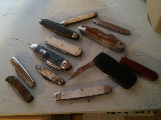 Antique multipurpose pocket knives