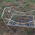 Antique iron doll's bed