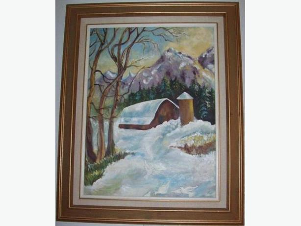 House Oil Painting made by local artist with frame