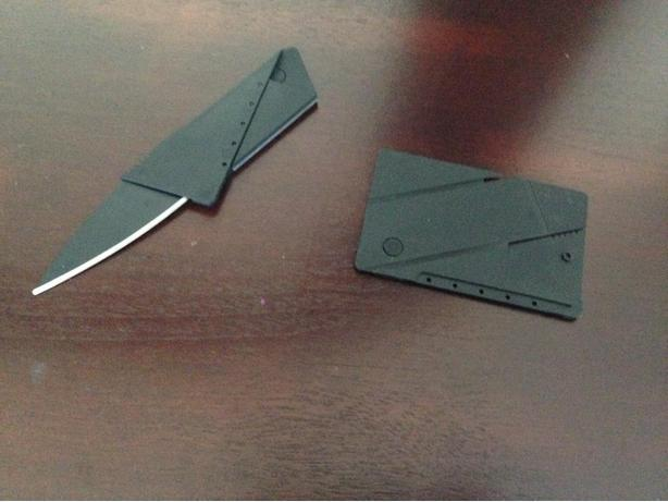 New portable credit card knife