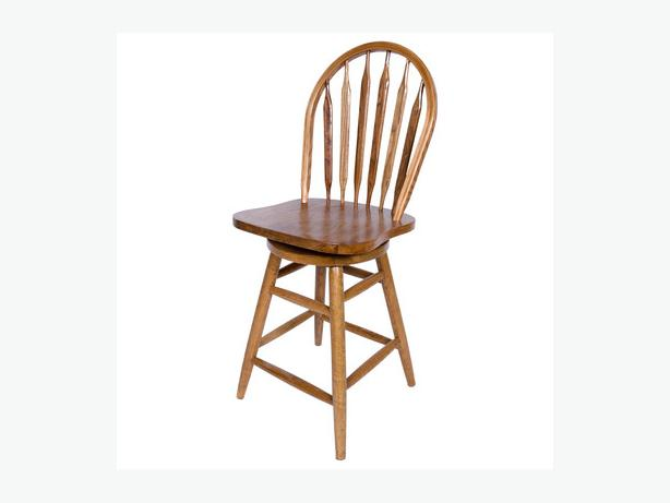 3 OAK SWIVEL BAR STOOLS $100 EACH