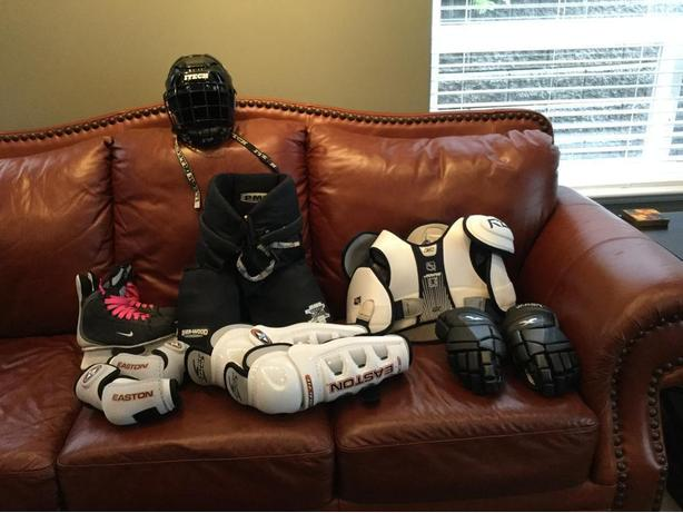 Full set of hockey equipment