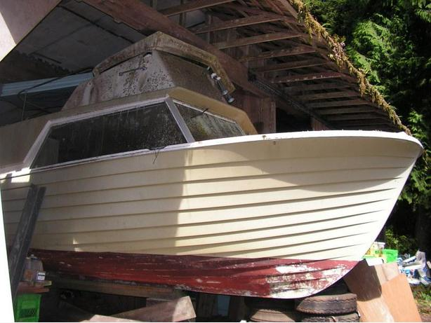 Price Reduced to FREE! West Bay 26' Lapstrake Fibreglass Hull