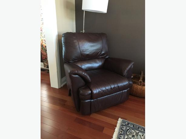 100 Genuine Leather Reclining Loveseat And Chair Kanata